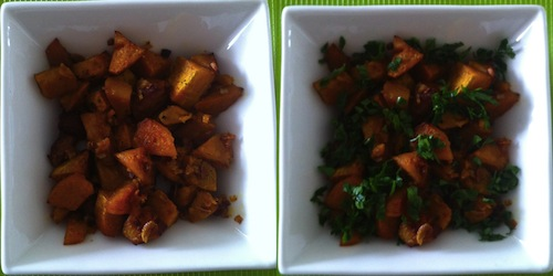 Sweet potato before after.